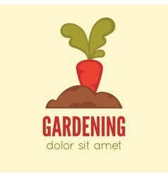 Gardening logo concept template vector image