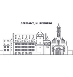 Germany nuremberg line skyline vector