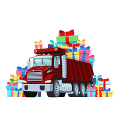 gift card truck driver birthday or other vector image