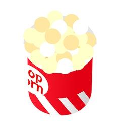 Icon popcorn vector