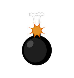 isolated comic bomb icon vector image