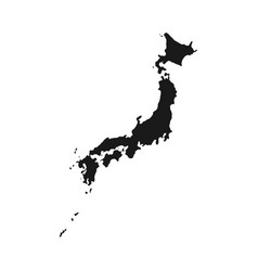 japan map blank japanese vector image