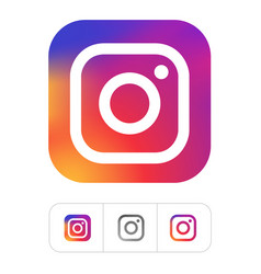 kiev ukraine - november 28 2019 instagram logo vector image