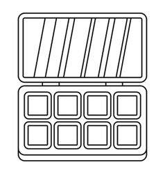 Makeup cosmetics icon outline style vector