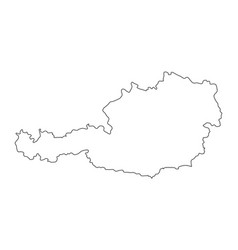 Outline austria map contour design isolated on vector