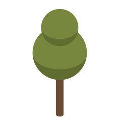 park tree icon isometric style vector image