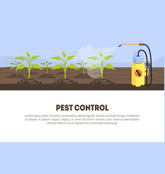 Pest control banner template with spray vector