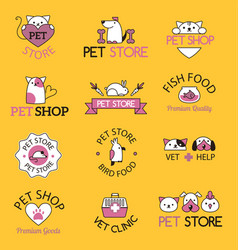 Pet shop symbols vector