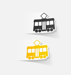 Realistic design element tram vector