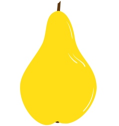 Ripe yellow pear vector image