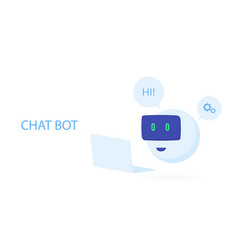 robot icon chat bot sign for support service vector image