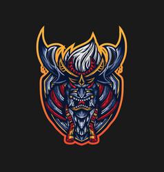 ronin mascot logo vector image
