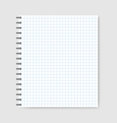 school notebook paper background vector image