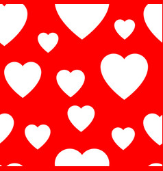 seamless pattern from simple flat hearts vector image