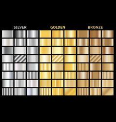 set metallic gradients collection of vector image