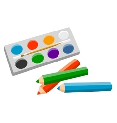 Set of products for artist vector