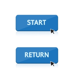 start and return button design vector image