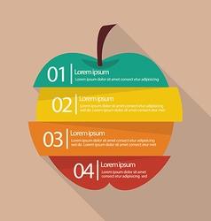Step design four part apple infographic vector