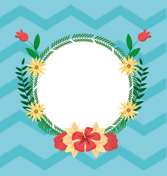 summer round frame cartoons vector image