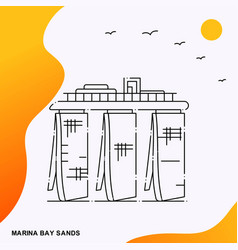 travel marina bay sands poster template vector image