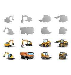vehicles set vector image