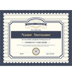 Vintage retro frame certificate background vector