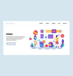 Web site design template fitness and vector