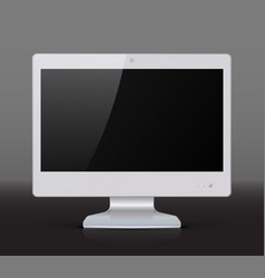 white monitor isolated on dark background vector image