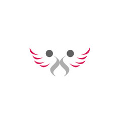 wing people abstract logo vector image