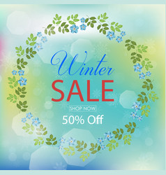 winter sale collection with florals vector image