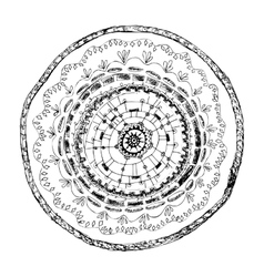 Hand-drawn ornament card with lace mandala vector image vector image
