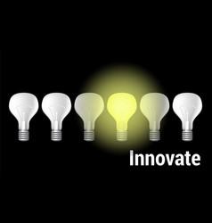 innovate on black vector image