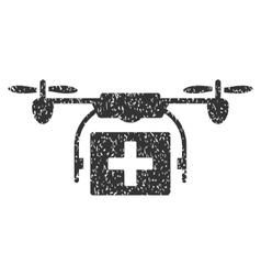 Ambulance Drone Grainy Texture Icon vector image vector image