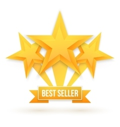 Best Seller Gold Star Background Five vector image vector image