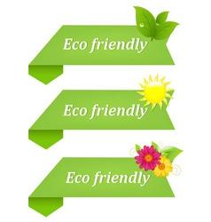 eco friendly ribbons vector image