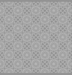Gray abstract ornamental repeating pattern vector