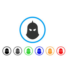 knight helmet rounded icon vector image vector image