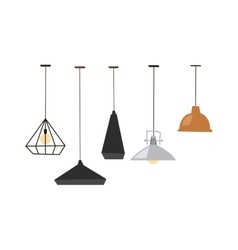 Lamps isolated vector image
