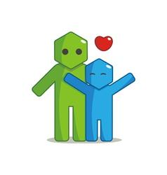 Hexagon Man - Affection vector image vector image