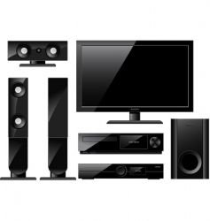 home theater system vector image vector image