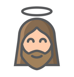 jesus filled outline icon easter and holiday vector image vector image