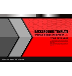 red color backgrounds template vector image vector image