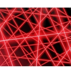 Red laser beams on a black backgroundeps 10 vector image