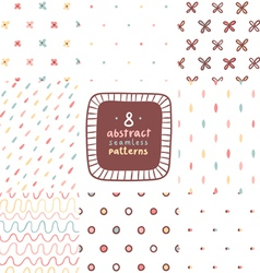 Simple abstract patterns set vector image vector image