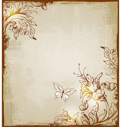 vintage background brown vector image