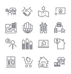 Web icon set real estate property realtor real vector