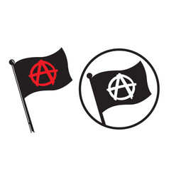 anarchy black flag icons vector image vector image