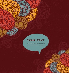 Background with doodle design vector image