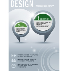 Brochure design with infographic elements vector image vector image