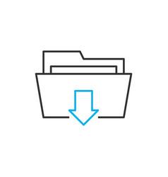 download line icon vector image